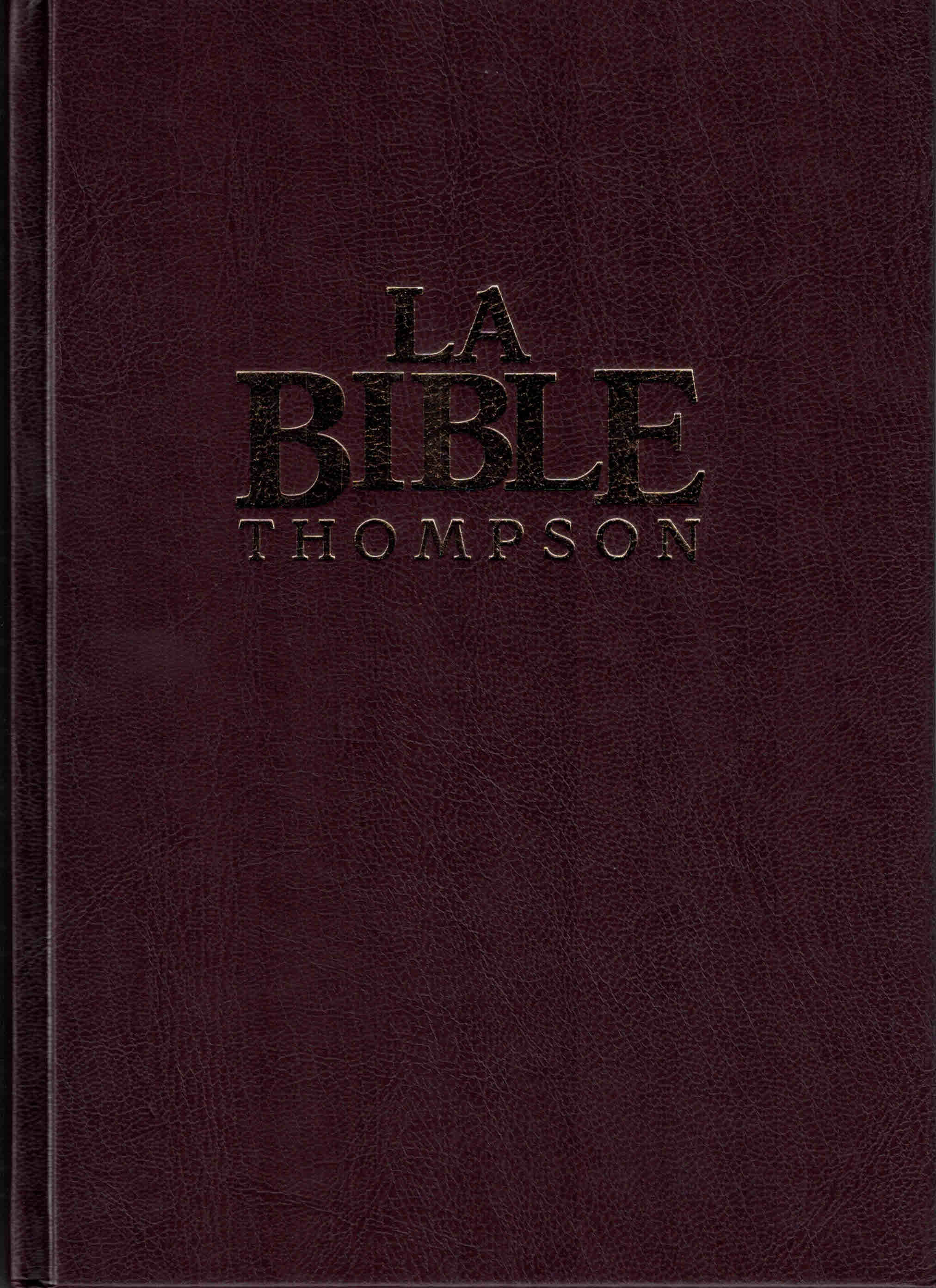 Bible d'étude Thompson