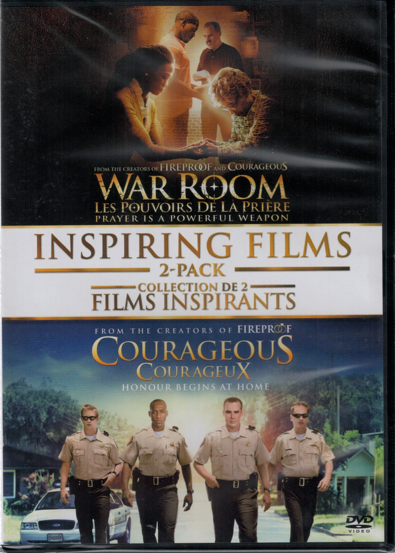 Collection de 2 DVD War Room et Courageous