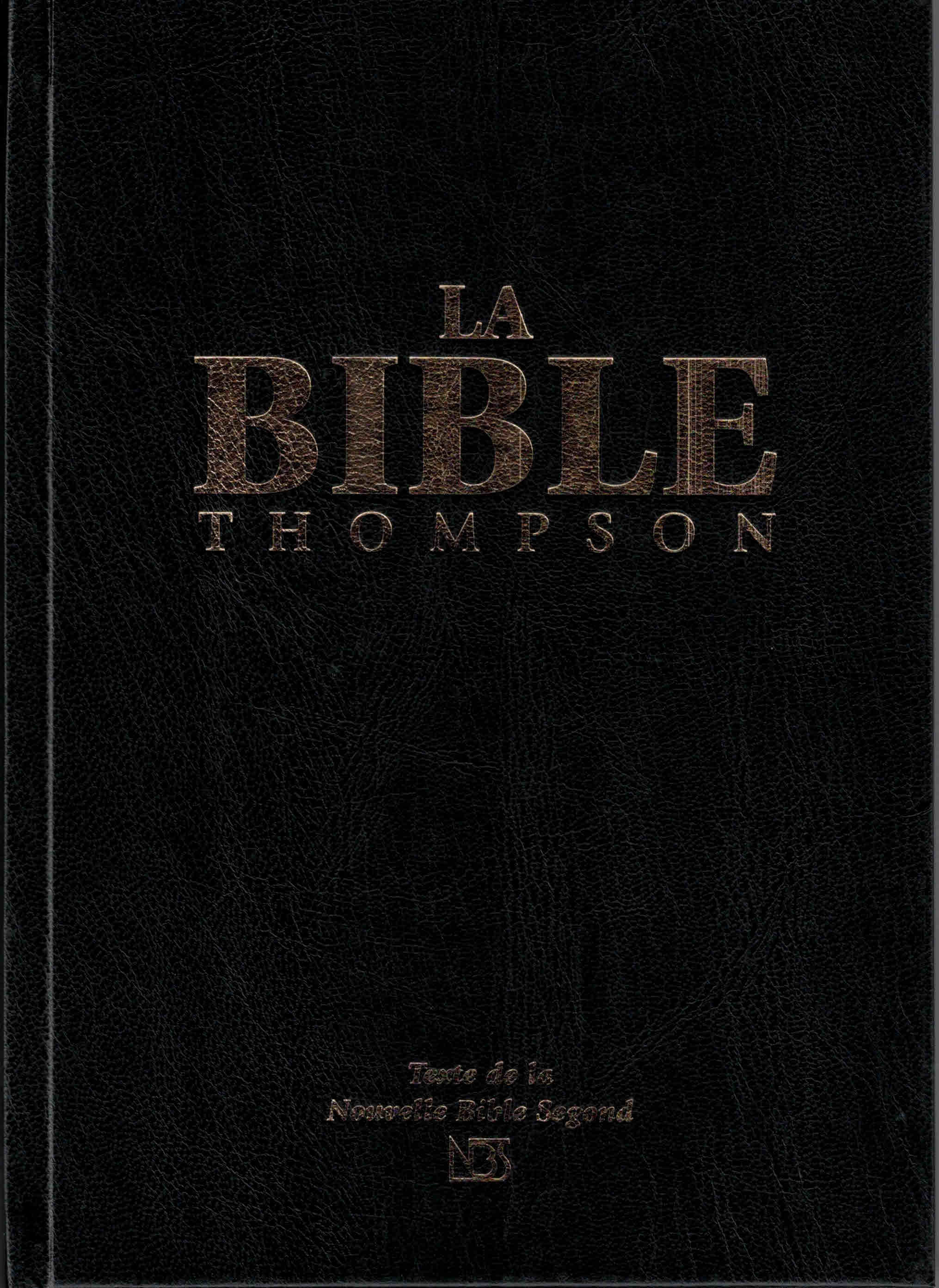 Bible Thompson NBS rigide
