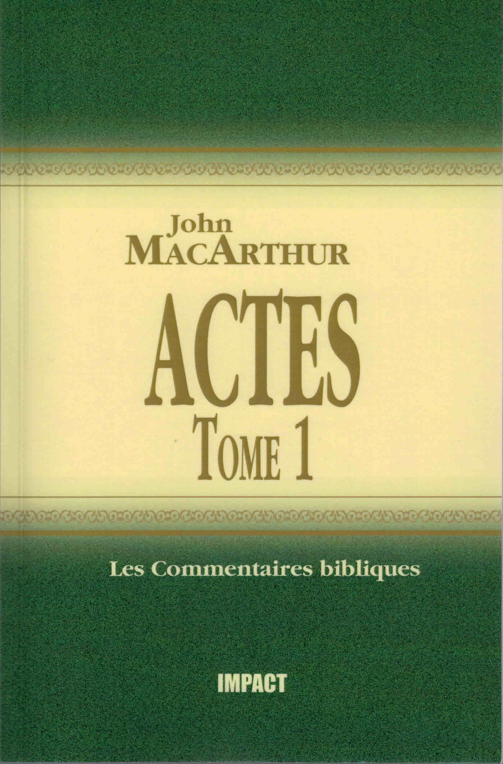 Actes Tome 1