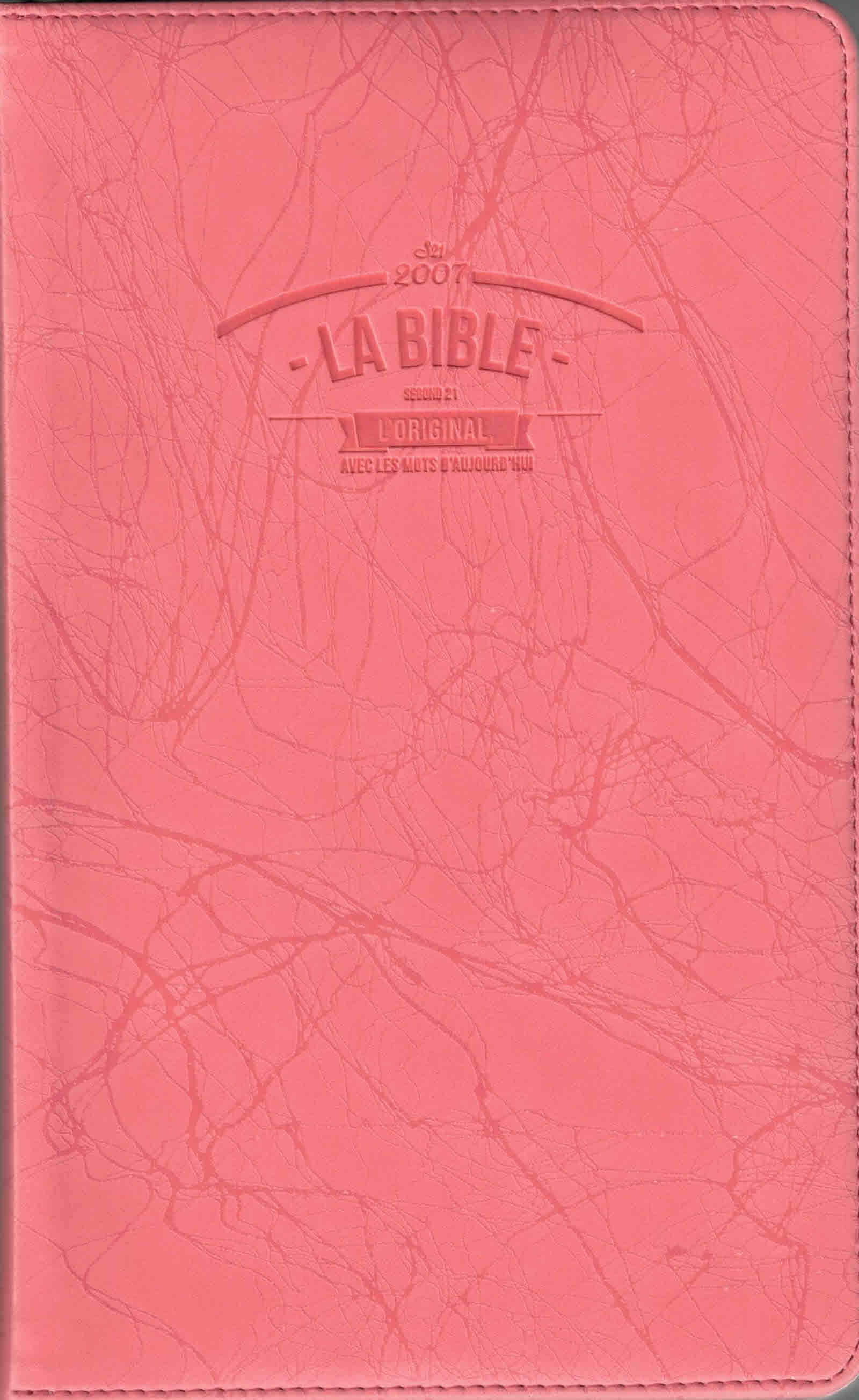 Bible SG 21 Slim similicuir rose