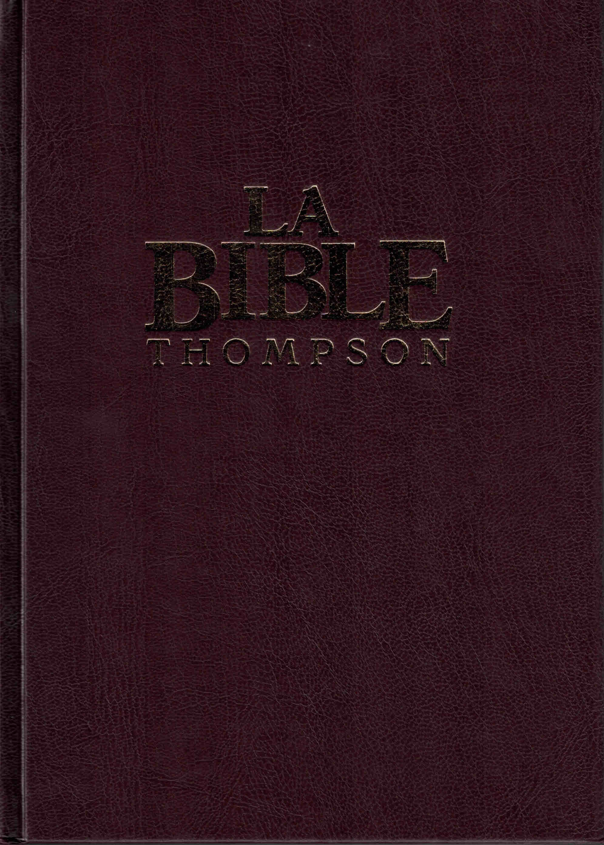 Bible Colombe Thompson rigide avec onglets